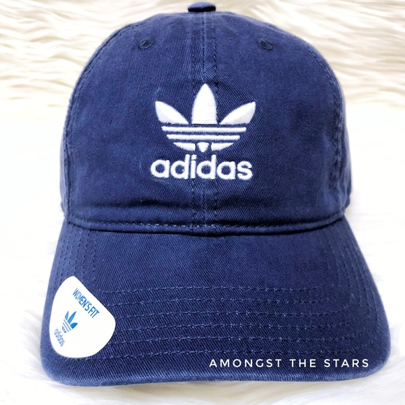 eca73c61ce8 adidas Originals Navy Blue White Strapback Dad Hat